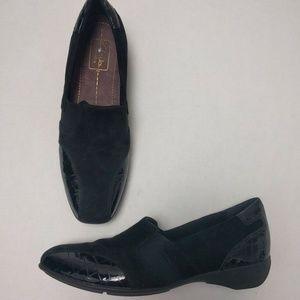 Clarks Everyday Shoes 8.5 N Black Slip On Comfort